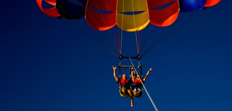 Parasailing experience at Eagles Nest, Russell, Bay of Islands, New Zealand