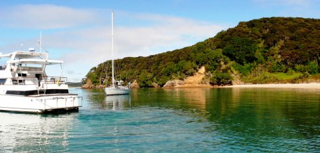 Boat charter experience at Eagles Nest, Russell, Bay of Islands, New Zealand