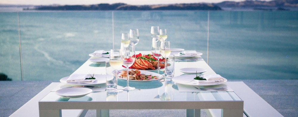 Fine dining food at Eagles Nest, Russell, Bay of Islands, New Zealand